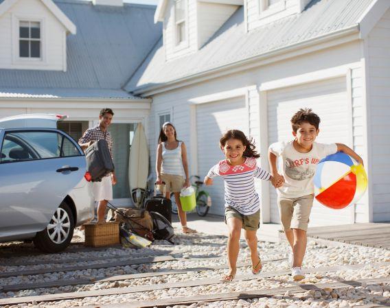 Familie klar for ferie
