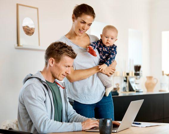 Par med barn søker finansieringsbevis