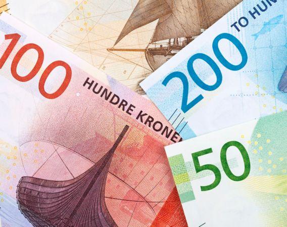Bilde av ulike pengesedler