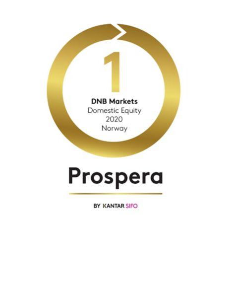 Prospera logo som viser at DNB Markets er beste meglerhus i 2020