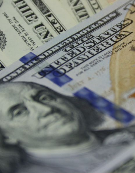 Dollarsedler nærbilde