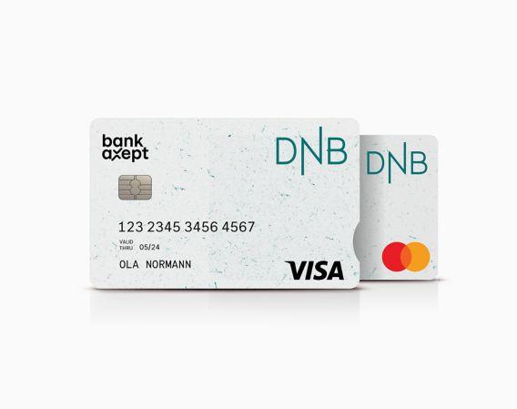 Resirkulert bankkort Visa og Mastercard