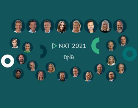 Bilde av foredragsholdere. Lenker til DNB NXT