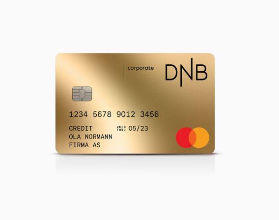 Kortet corporate mastercard. Illustrasjon.